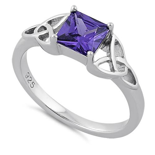 Amethyst CZ with Trinities Ring