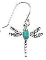 Dragonfly Turquoise Earrings