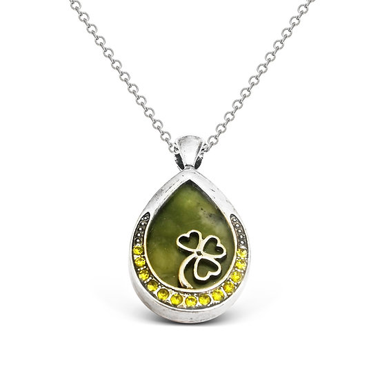 Connemara Shamrock Crystal Necklace