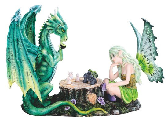 Dragon and Fairy Playing Chess