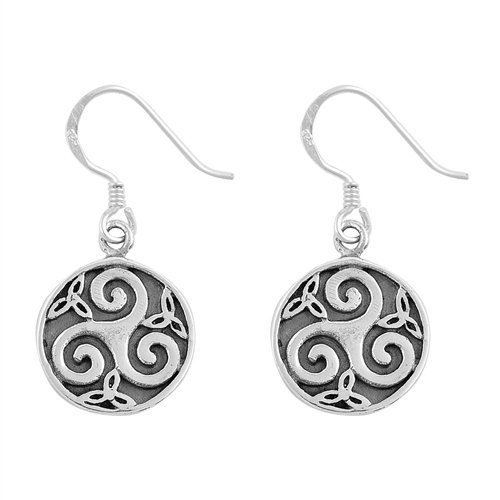 Earrings: Triskele with Trinities