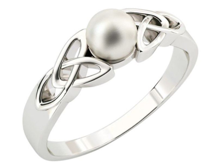 Trinity and Pearl Ring