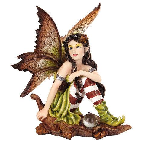 Fairy on Leaf, Brown Hair