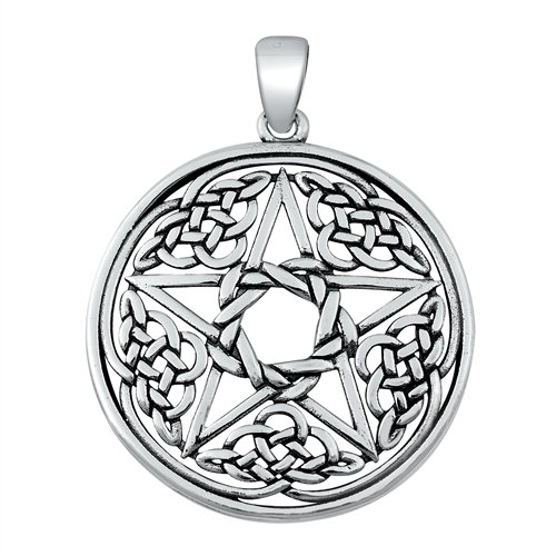 Heavy Knot Pentacle Necklace