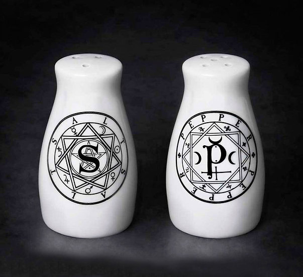 Sacred Geometry Salt & Pepper