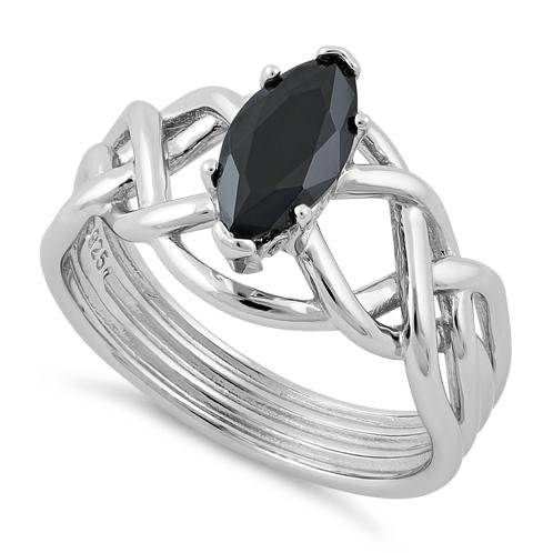 Celtic Ring with Black Onyx