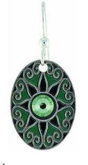 Love Star Green Earrings