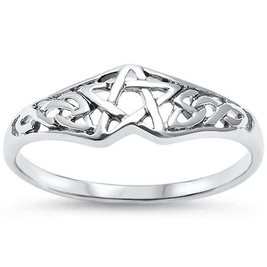 Pentacle Trinity Ring