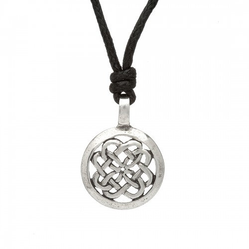 Pewter Circle Necklace