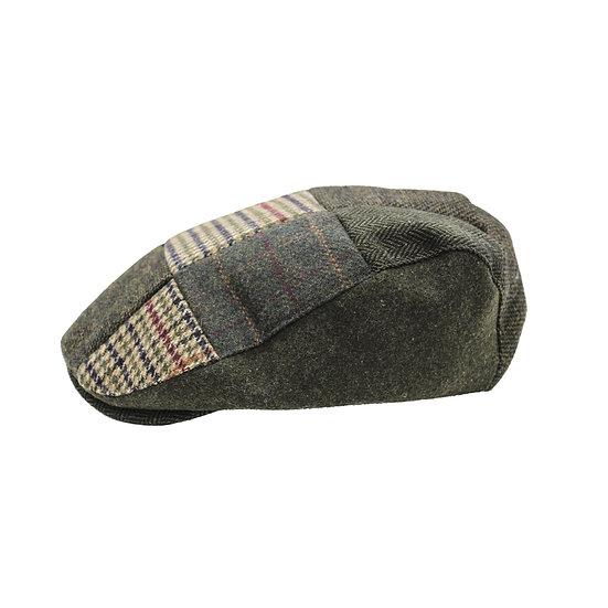 Flat Cap, Green Patchwork hat