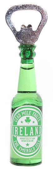 Irish Beer Bottle Opener Magnet