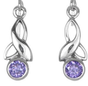 Amethyst Trinity Earrings