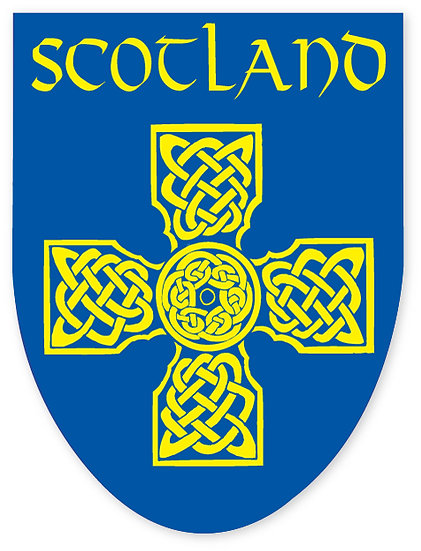 Scotland Cross Sticker