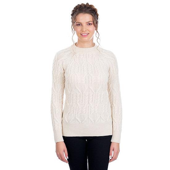 Ladies Aran Tunic Sweater