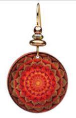 Sun Earth Mandala Earrings