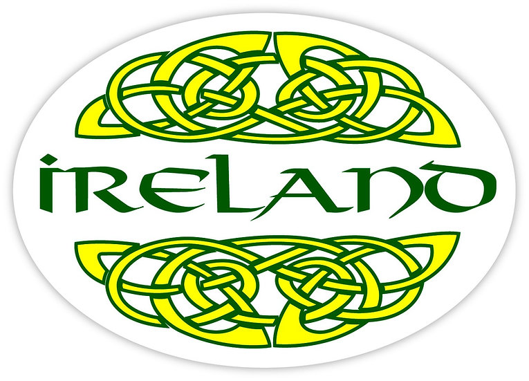 Ireland White w/ Yellow Knot Sticker