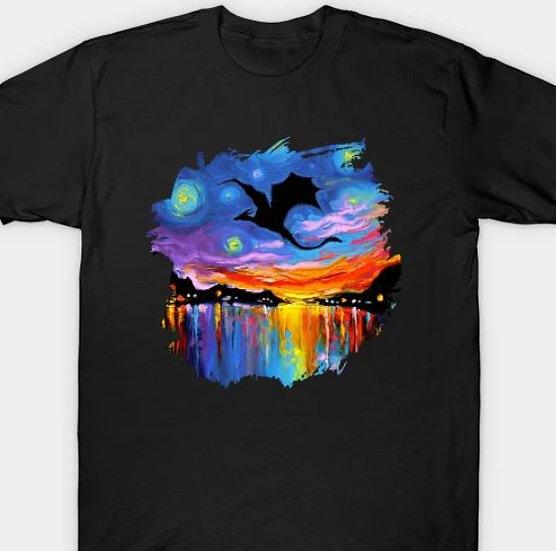Watercolor Dragon in Flight T-shirt