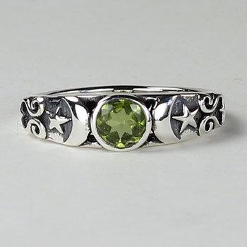Peridot Goddess Ring