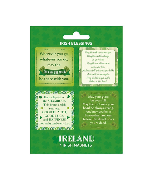 Ireland Blessings 4Pack Magnets
