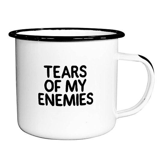 Tears of My Enemies Enameled Mug
