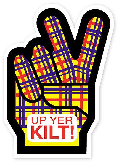 Up Yer Kilt! Sticker