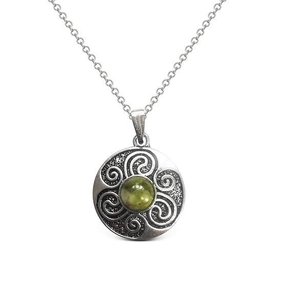Connemara Spiral Shield Necklace