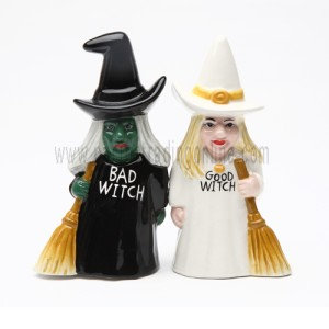 Good and Bad Witch Salt & Pepper Shakers