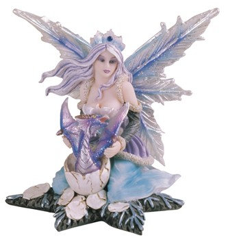 Fairy with Purple Dragon