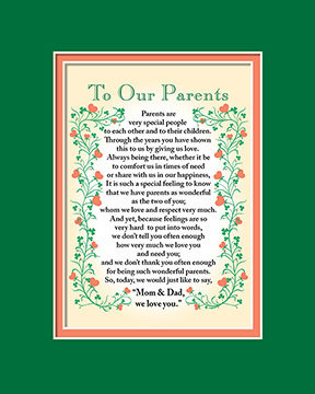 To Our Parents Print