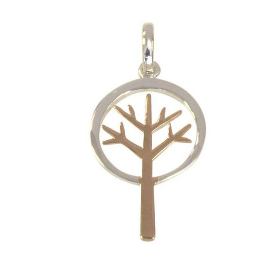 Tree of Life Silver and Gold Necklace