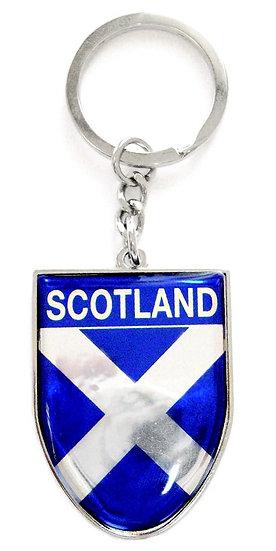 Scotland Saltire Shield Keyring