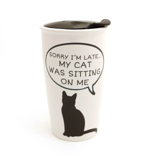 Travel Mug: Sorry Late