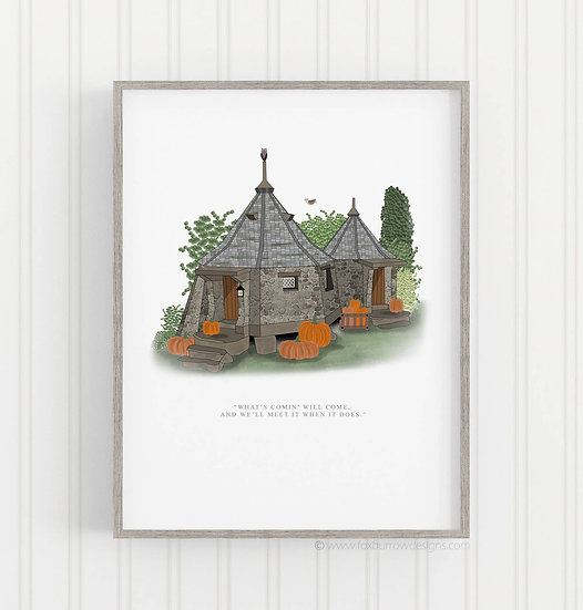 Hagrid's House Print (Harry Potter)