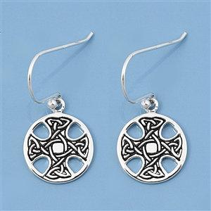 Celtic Cross encircled Earrings