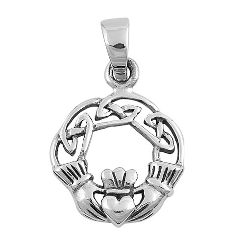 Claddagh Love Knot Necklace