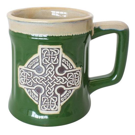 Celtic Cross Pottery Mug