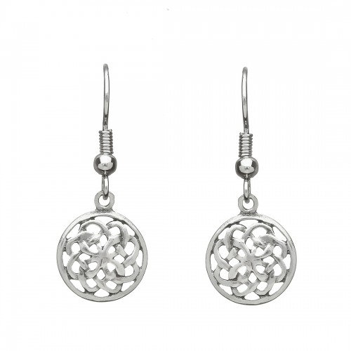 Pewter Round Earrings