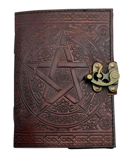 Leather Pentagram Journal