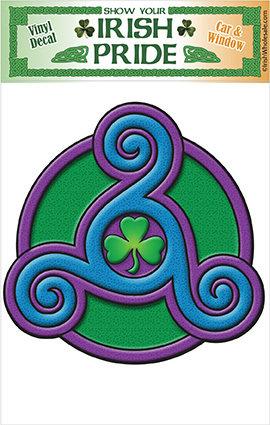 Triskele Shamrock Sticker