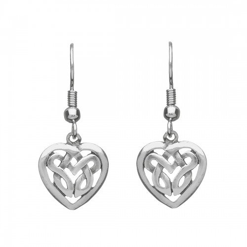 Pewter Loveknot Earrings