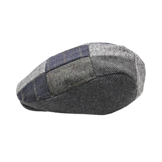 Flat Cap, Blue Patchwork hat
