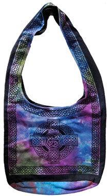 Celtic Cross Tie Dyed Expandable Bag