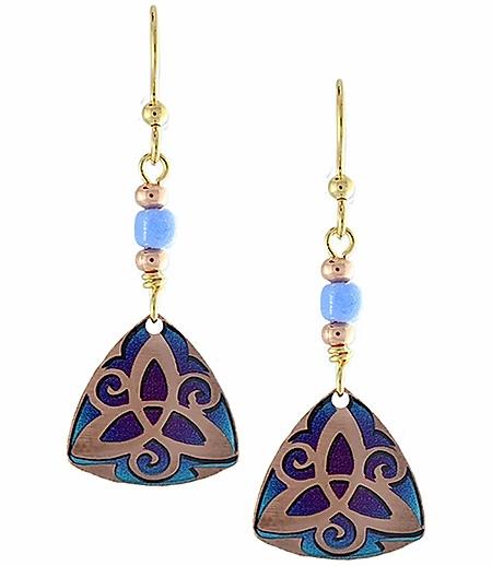 Purple Trinity Earrings