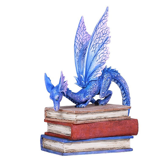 Blue & Purple Dragon on 3 Books (Amy Brown)