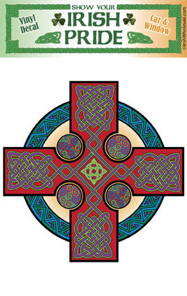 Celtic Cross Sym Sticker