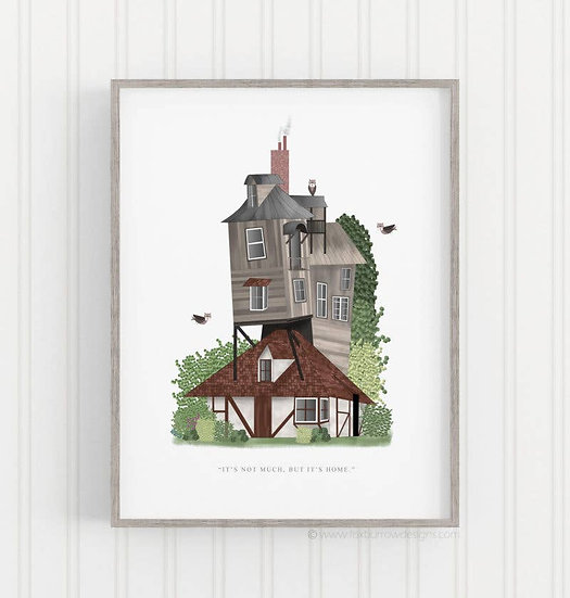 The Burrow Print (Harry Potter)