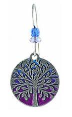 Tree Silver / Magenta Earrings