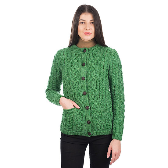 Ladies Button Cardigan