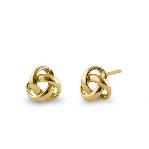 Trinity Post Earrings 14KT gold