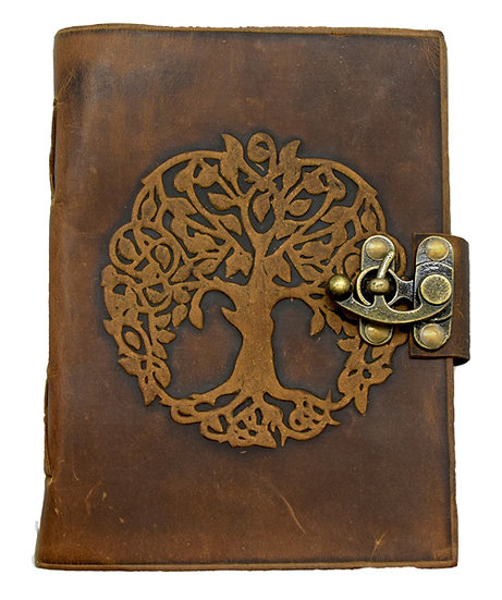 Soft Leather Tree of Life Journal